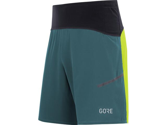 GORE WEAR R7 Korte Broek Heren, dark nordic blue/citrus green
